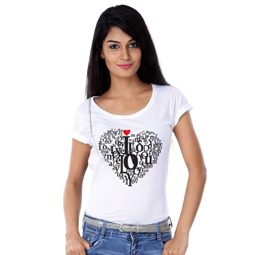 Love Doodle Couple Tees for women