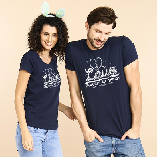 7d1fcecf7c Love Endures All Things Couple Tees ...