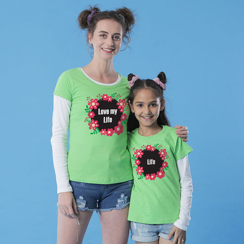Love My Life Tees Mom & Daughter Tees