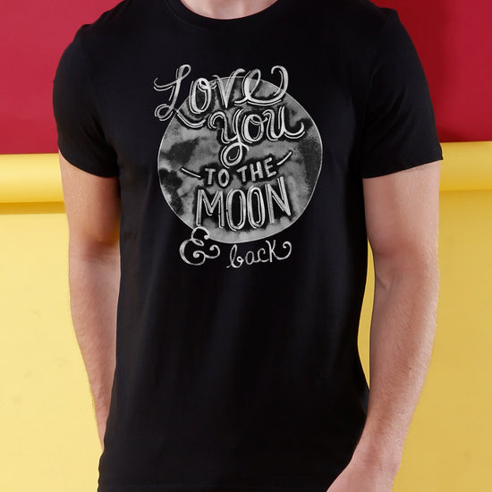 Love You To The Moon Matching Couples Crop Top & Tee