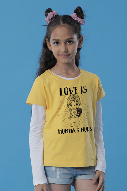 Love is Mumma's Hugs/Love is Daughter's Hugs Tees