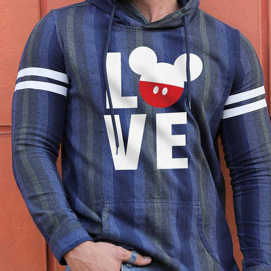 Love, Matching Disney Hoodie And Crop Hoodie For Couples
