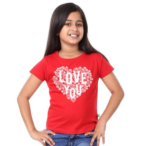 Love You Art Couple Tees for daughter