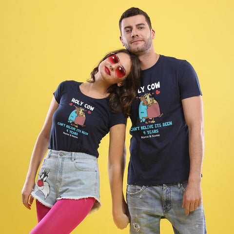 Holy Cow! Matching Customisable Couples Tees