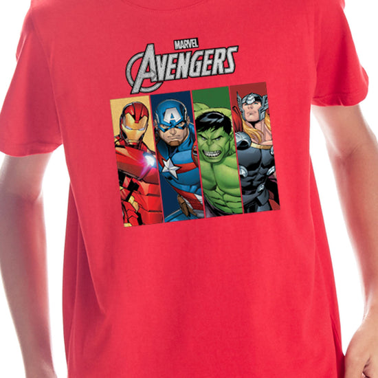 Avengers Superhero, Marvel Red Tees for Boys