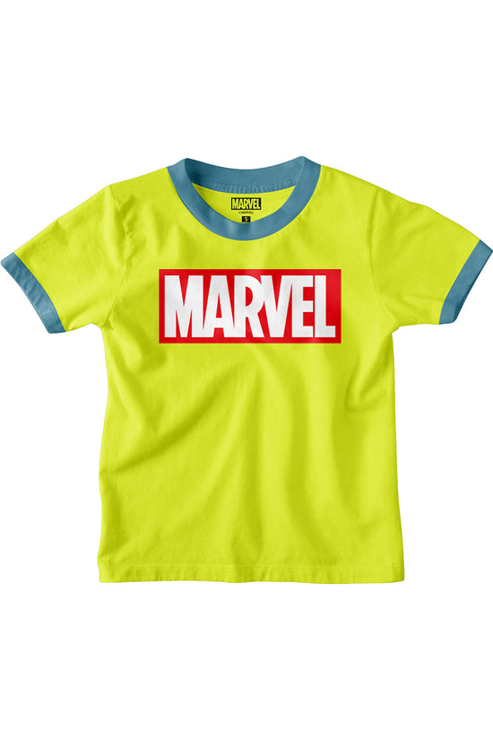 Marvel Logo Yellow tees for boys