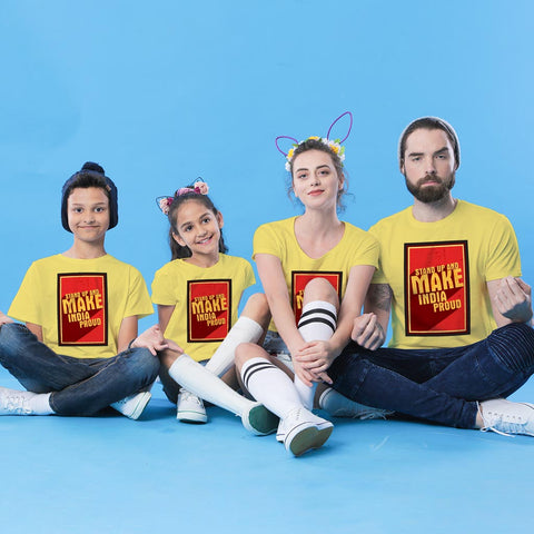 Make India Proud Family Tees