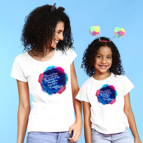 Mama Looked Mother Daughter Tees
