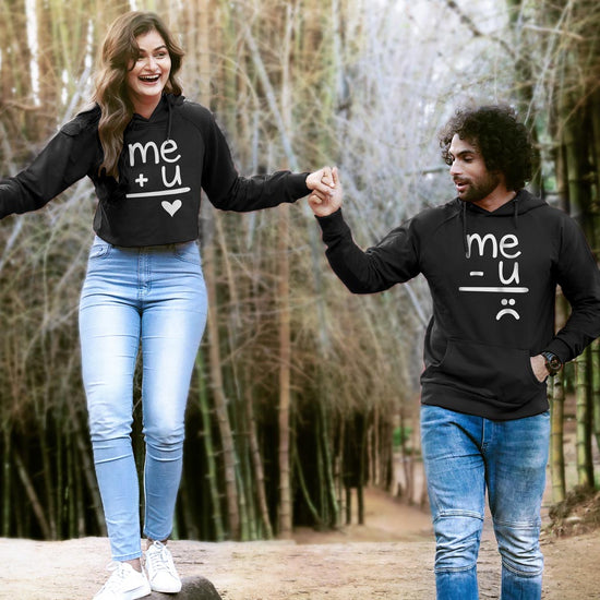 c718276b44 Me And U (Black) Matching Hoodie For Men And Crop Hoodie For Women ...