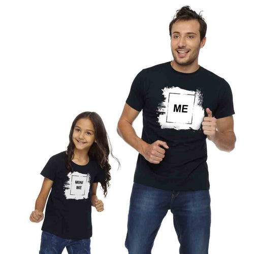 Me Mini Me Dad & Daughter Matching Tshirt