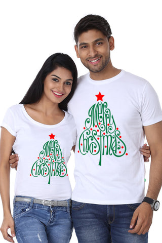 Merry Christmas Tree, Couple Tees