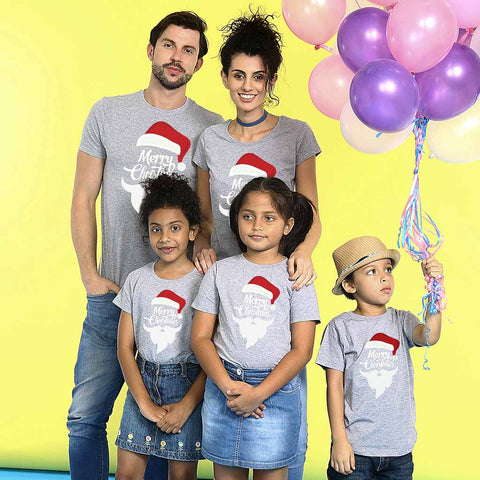 Merry Christmas from santa family tees