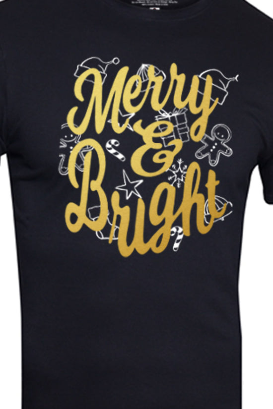 Merry And Bright Dad And Baby Tees