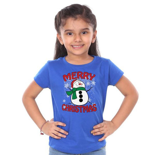 Merry Christmas Snowman, Mom And Daughter Tees For Daughter