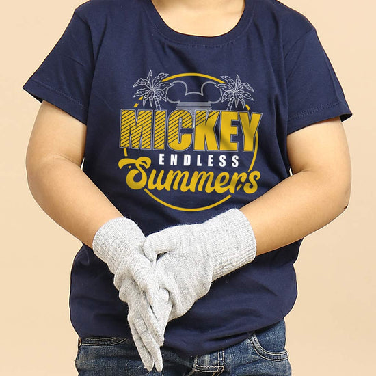 Mickey Endless Summer, Disney Navy Blue Kids Tees