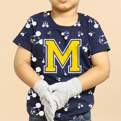 M, Disney Navy Blue Tee For Kids