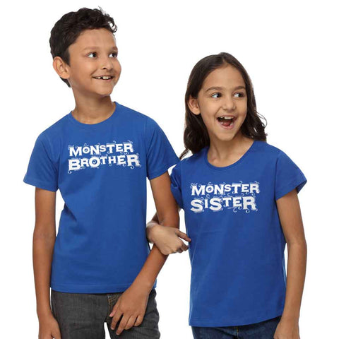 Monster Brother And Sister Tees