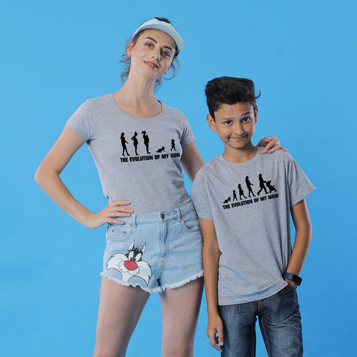 Mother And Son Evolution Tees