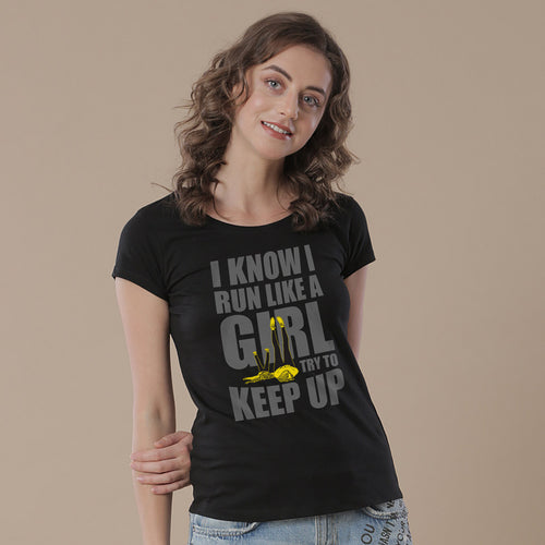 Mother-Daughter I Know I Run Like A Girl Tees