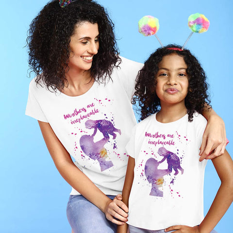 Mothers Are Irreplaceable Mom Daughter Tees