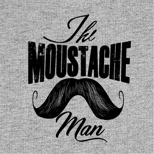 Moustache Man Dad And Son Tshirt