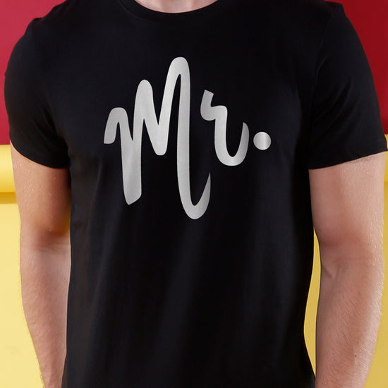 Mr. & Mrs. Black Crop Top & Tee