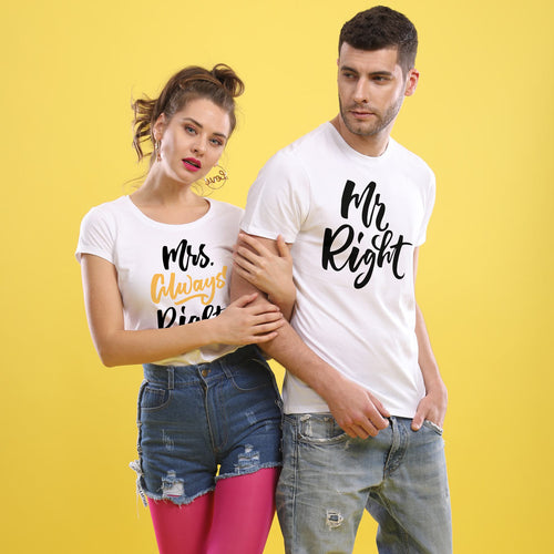 Mrs. Always Right Couple Tees