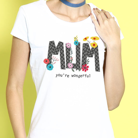 Mum You're Wonderful Mothers Day Tee