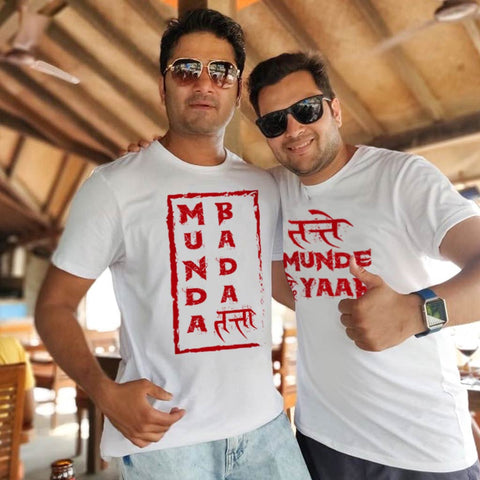 Munda Bada ,Matching Friends Tees