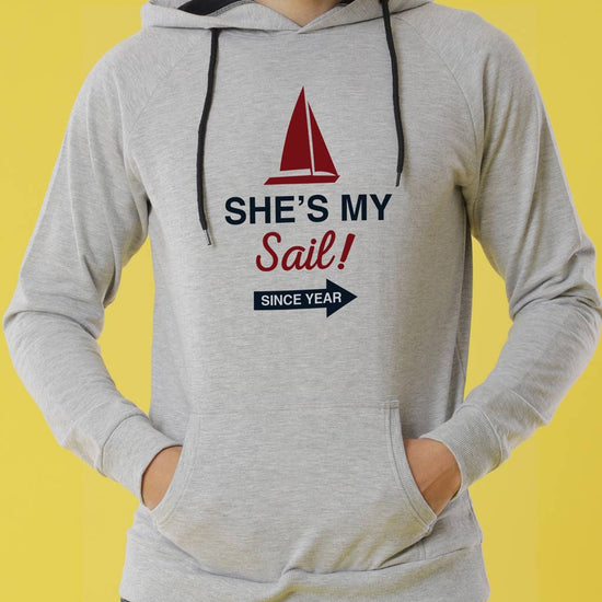 My Anchor Personalised Hoodies For Couples