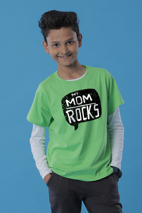 My Mom Rocks Tees for son