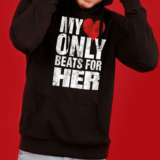 Only For You (Black) Matching Hoodie For Men And Crop Hoodie For Women