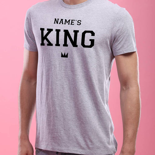 King And Queen, Personalized Couple Tees
