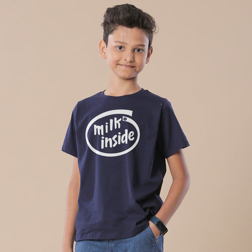 Milk Inside Beer Inside Dad and Son T-Shirt