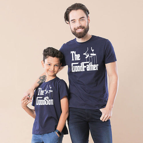 Navy The Good Father And Son Tshirt