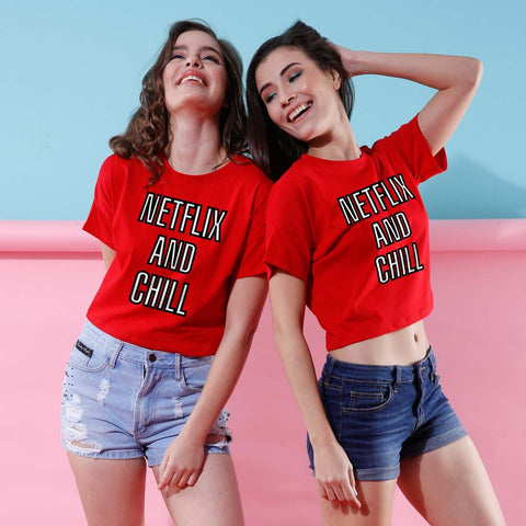 Netflix And Chill, Crop Tops For Bffs