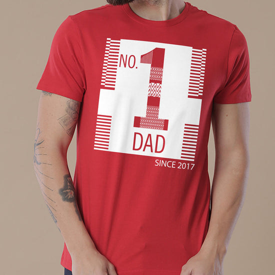 No.1 Dad, Personalized Tee For Dad