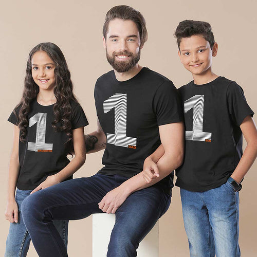 No.1 Dad, Daughter and Son Tee
