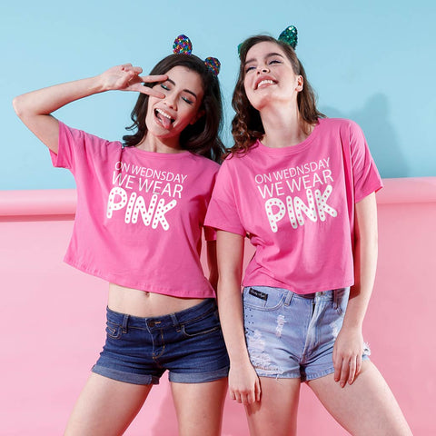 On Wednesday We Wear Pink, Crop Tops For Bffs