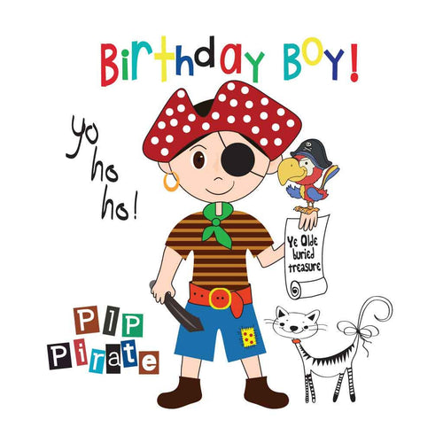 PipPirate Boy Birthday Tee