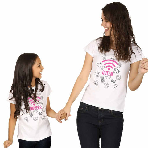 Princess Queen Mom Daughter Tees