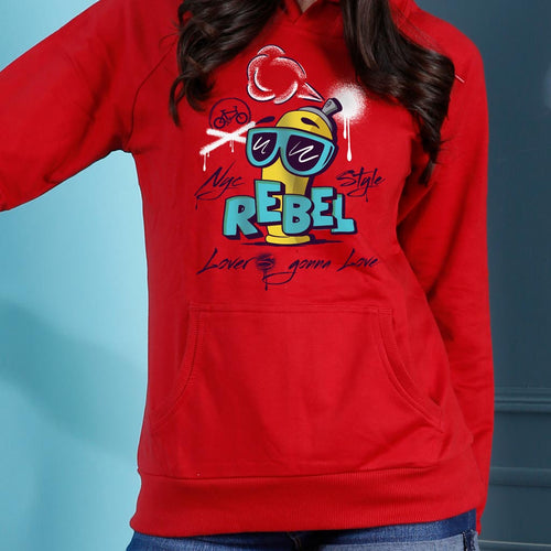 Rebel Lover, Matching Red Hoodies For Couples