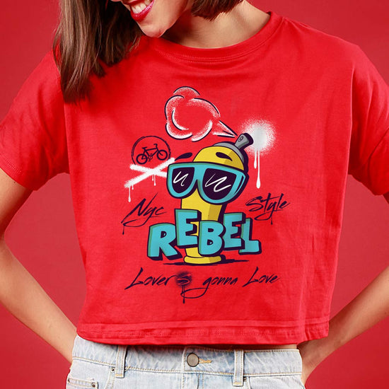 Rebel lover, Matching Couple Crop Top And Tee