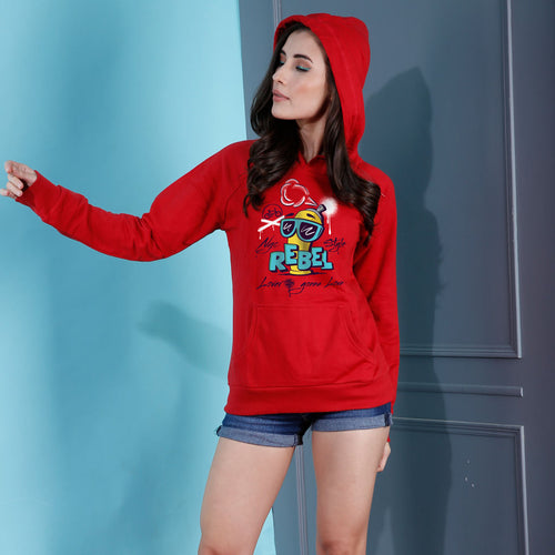Rebel Lover, Matching Red Hoodies For Women