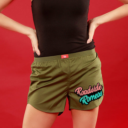 Roadside Romeos, Matching Olive Green Couple Boxers