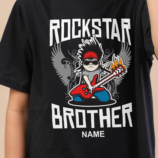 Rockstar Brother, Personalised Tee For Brother