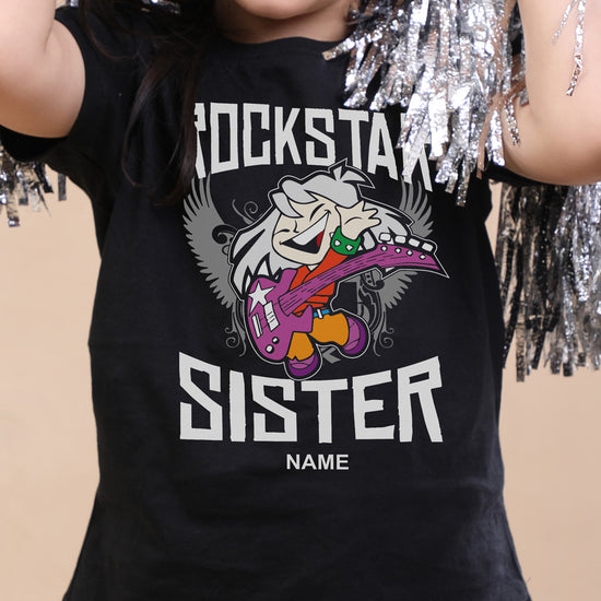 Rockstar Sister, Personalised Tee For Sister