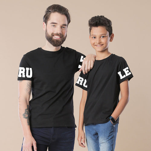 Rule Dad and Son Matching Tshirt