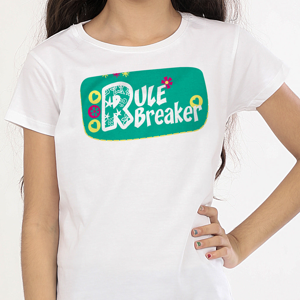 60f3dbc8eb94 Matching Tees For Two Daughters Twins - Rule Maker Breaker
