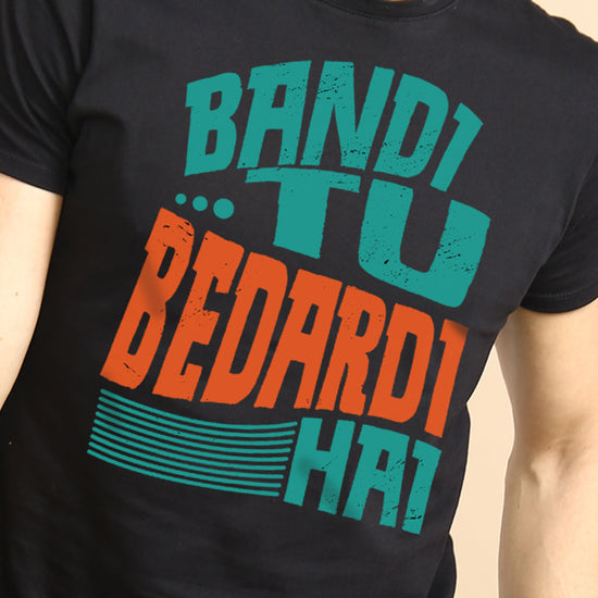Bandi Tu/Sardi Mein Matching Tees For Couples
